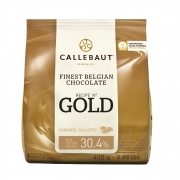 CHOCOLATE BELGA CALLETS CARAMELO GOLD 30.4% 400G CALLEBAUT