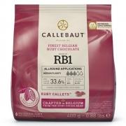CHOCOLATE BELGA CALLETS RUBY 33.1% 400G CALLEBAUT