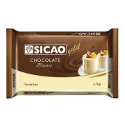 CHOCOLATE EM BARRA BRANCO 2,1KG SICAO