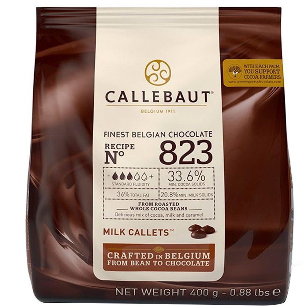 CHOCOLATE BELGA CALLETS AO LEITE 33.6% 400G CALLEBAUT