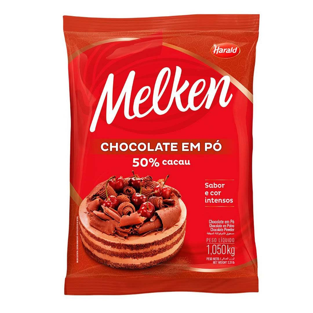 CHOCOLATE EM PÓ 50% 1,05KG HARALD