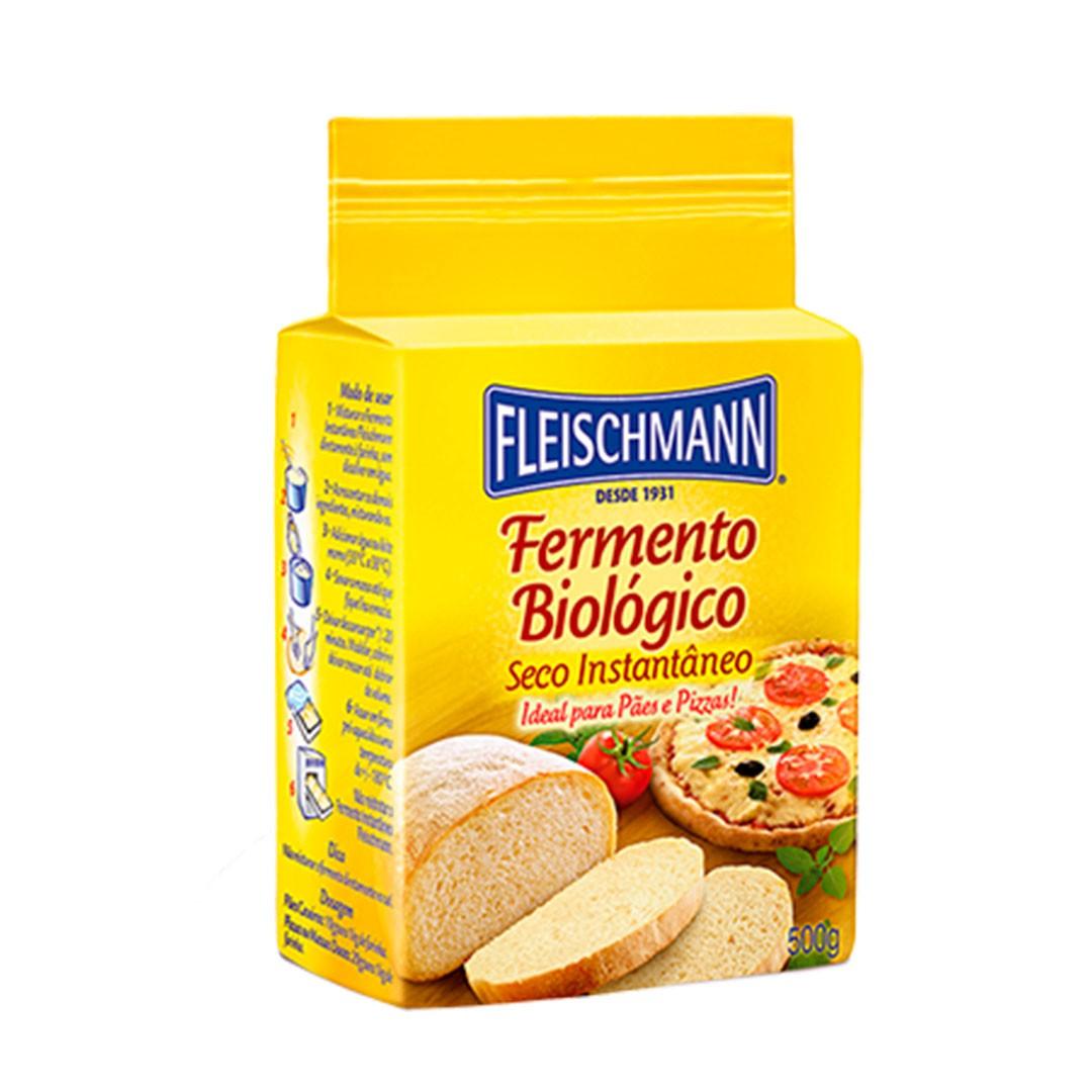FERMENTO BIOLÓGICO SECO INSTANTÂNEO 500G FLEISCHMANN