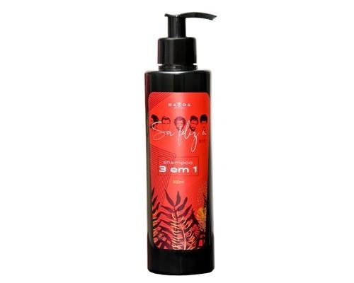 Shampoo 3 em 1 Ser Feliz É 300ml Higieniza Hidrata e Fortalece o Cabelo
