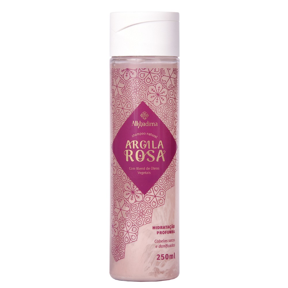 Shampoo Natural Argila Rosa Alkhadima