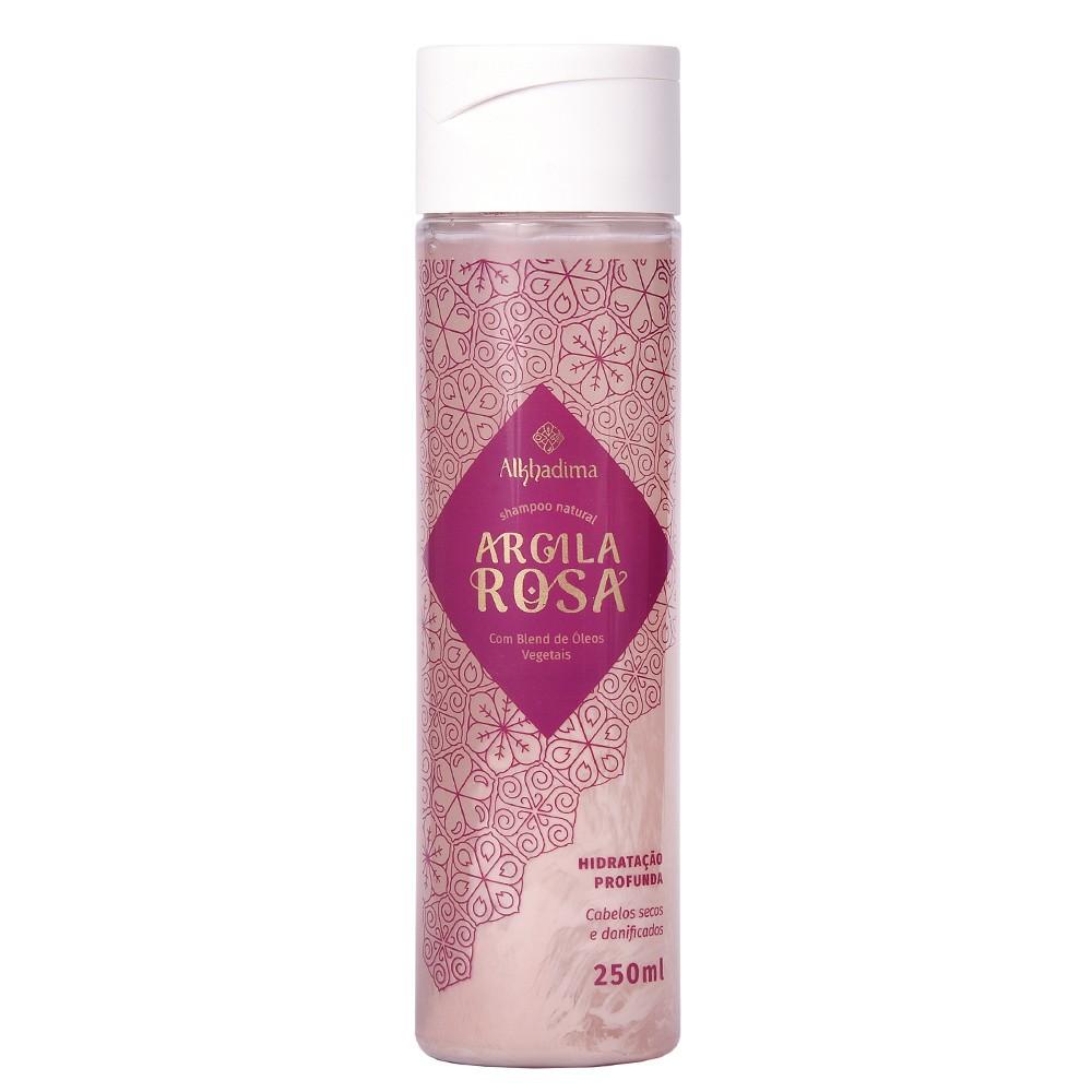 Shampoo Vegano de Argila Rosa 250ml Brilho e Maciez Intensa