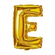 Balão Metalizado 18pol Letra E Dourado 01un