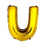 Balão Metalizado 18pol Letra U Dourado 01un
