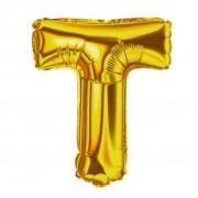 Balão Metalizado 32pol Letra T Dourado 01un