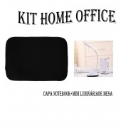 Kit Home Office Capa Para Notebook E Luminária De Mesa Led