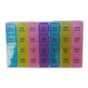 Porta Comprimidos Organizador De Remedios Semanal Caixa Para Medicamentos Colorido