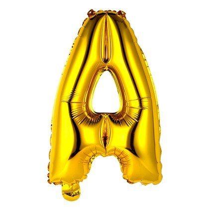 Balão Metalizado 18pol Letra A Dourado 01un