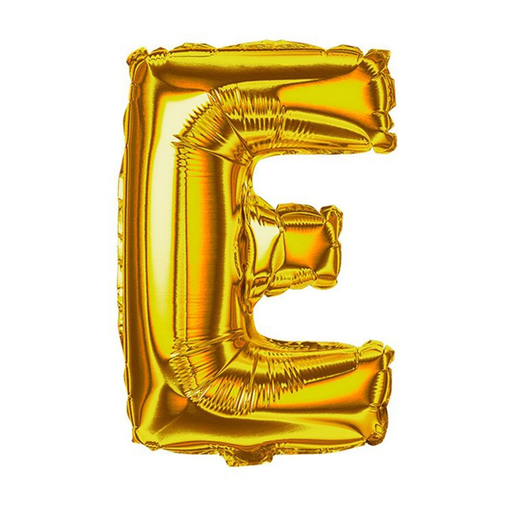 Balão Metalizado 18pol Letra E Dourado 01un  -  Mothelucci Loja online