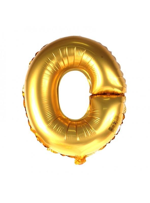 Balão Metalizado 18pol Letra O Dourado 01un