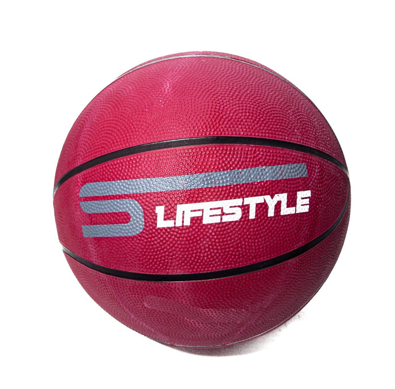 Bola de Basquete Borracha Vinho Medida 33cm - LifeStyle  -  Mothelucci Loja online