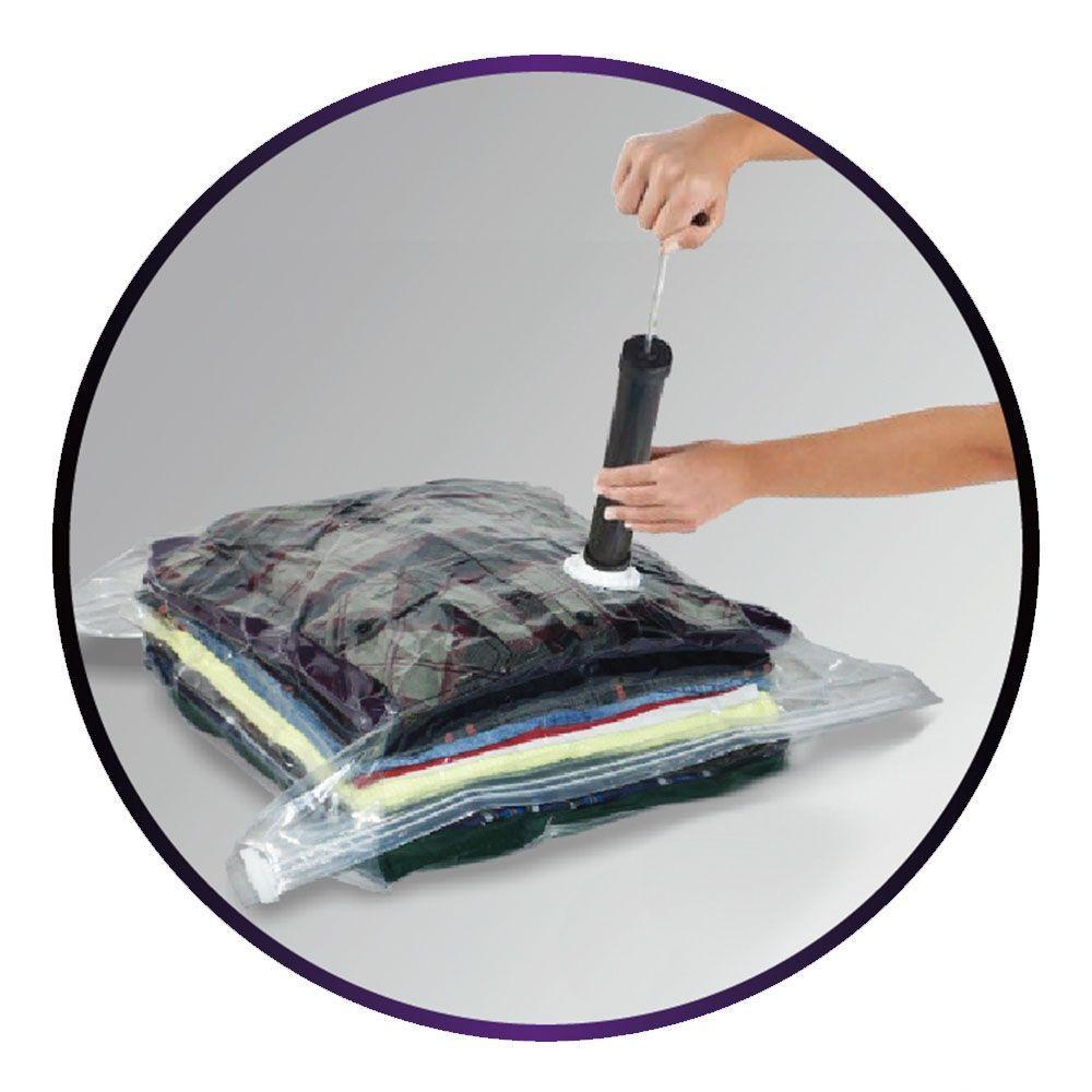 Bomba De Ar Plástica Sucção Manual Para Saco A Vácuo Organizador Mala Closet Roupa Clink