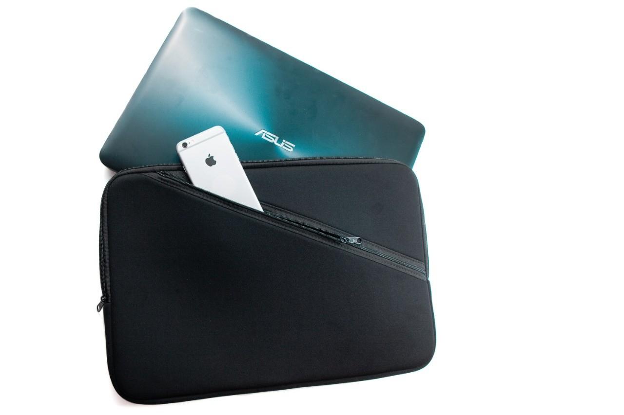 Capa Case com Bolso para Notebook 15,6 Preto