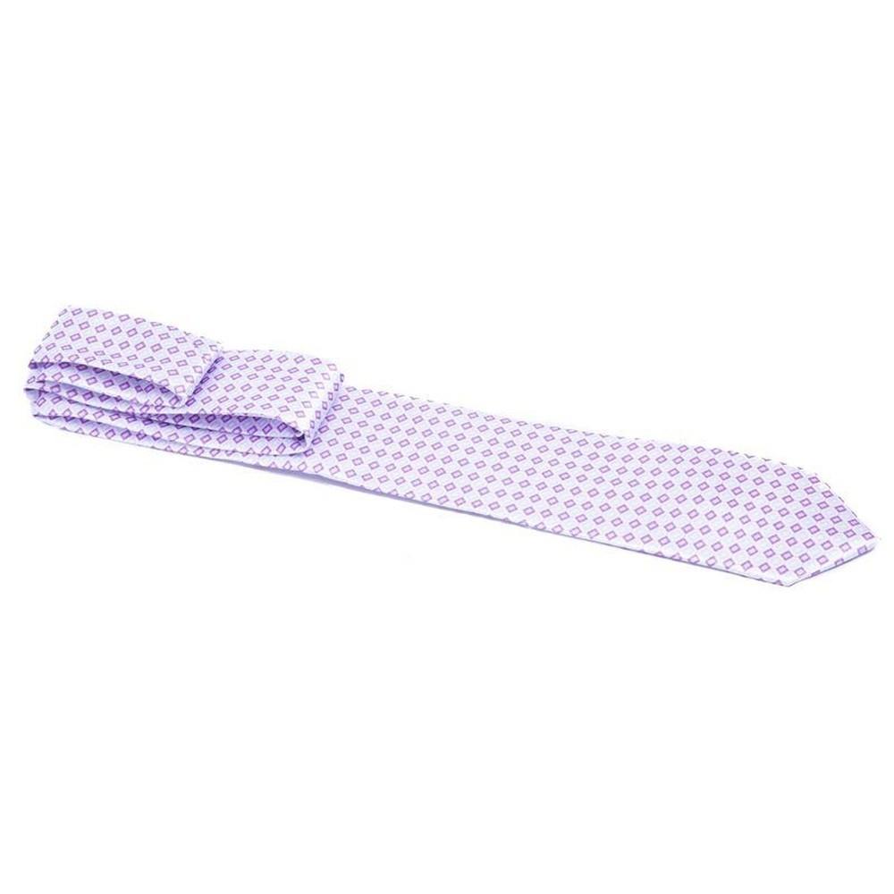 Gravata lilás com retângulos lilás claro e escuro - Tradicional