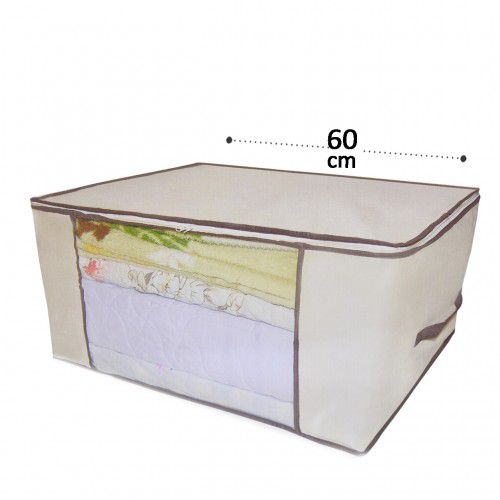 Kit 10 Caixa Organizadora Multiuso TNT Flexível 60x45x30 cm Kehome Closet Quarto Guarda Roupas  -  Mothelucci Loja online