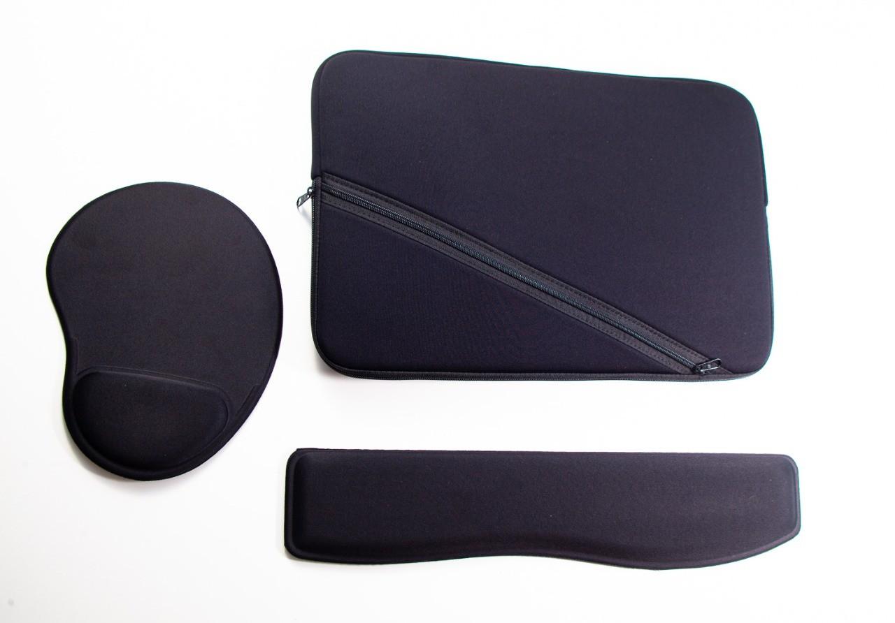 Kit Capa Case para Notebook 15,6 + Mouse Pad + Keypad Apoio Digitação