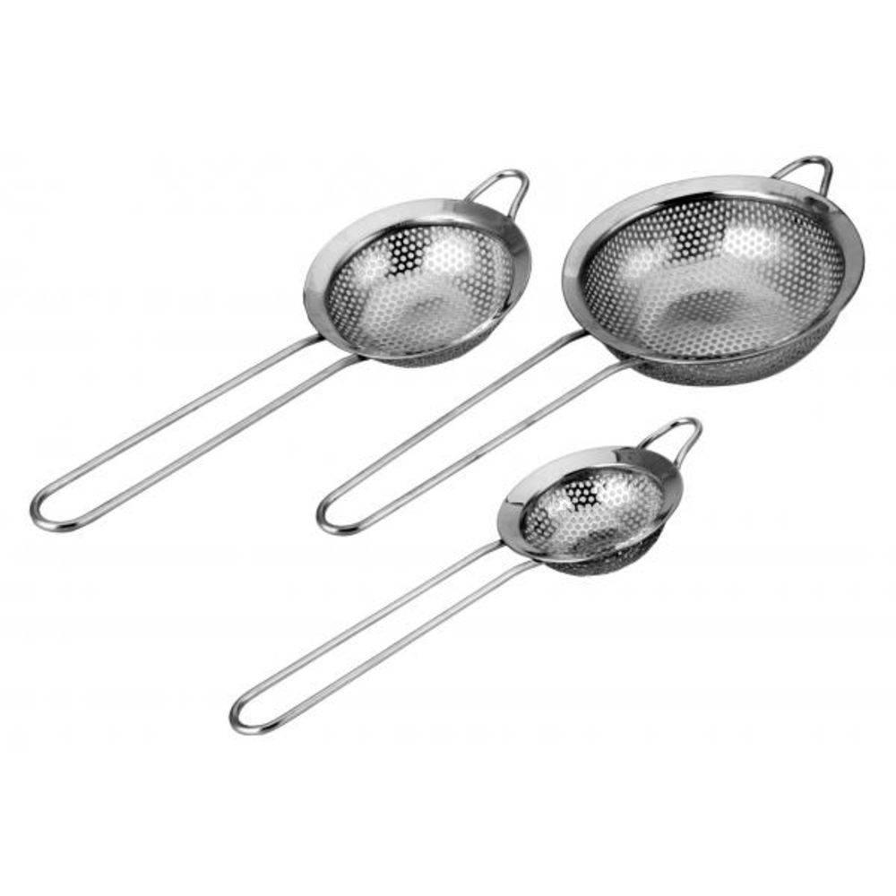 Kit Com 3 Peneiras Em Aço Inox