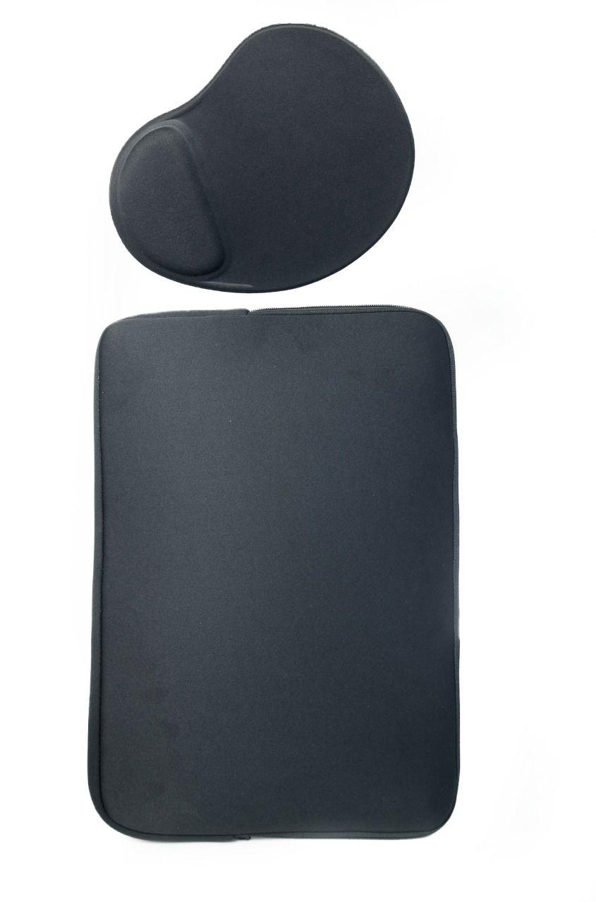 Kit de Mousepad com Luva Capa Case para Notebook 15,6