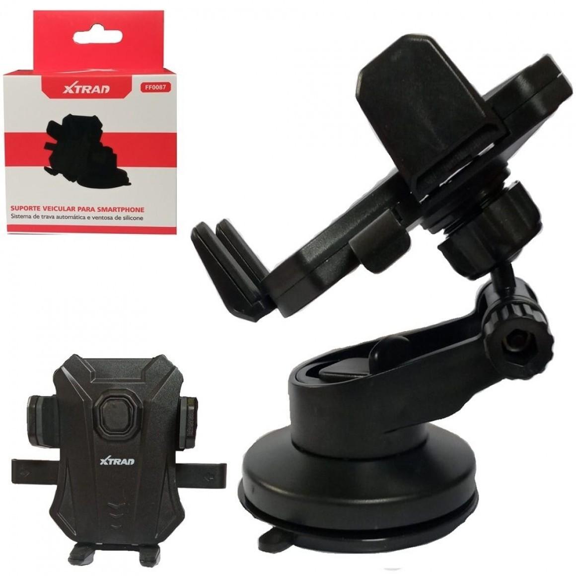 Suporte Veicular Celular Gps Ventosa Gruda Painel Xtrad