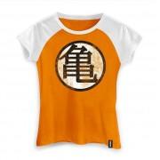 Camiseta Feminina Dragon Ball Kame Symbol