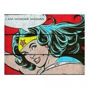 Placa de Madeira DC - I Am Wonder Woman