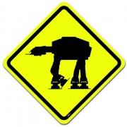 Placa Star Wars - Perigo Império na Pista