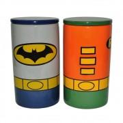 Potes Cerâmica DC - Batman e Robin