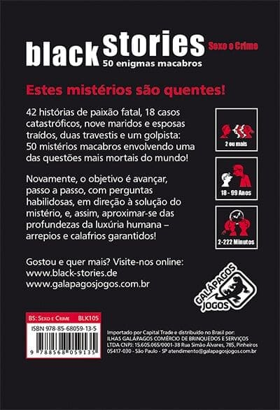 Black Stories Sexo e Crime
