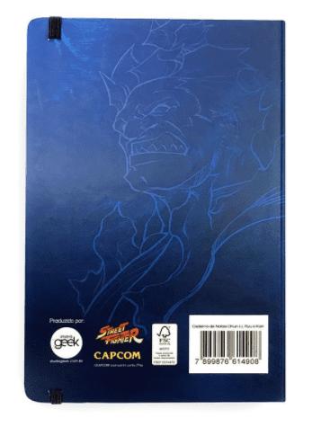 Caderno de Notas Street Fighter Chun-li, Ryu e Ken