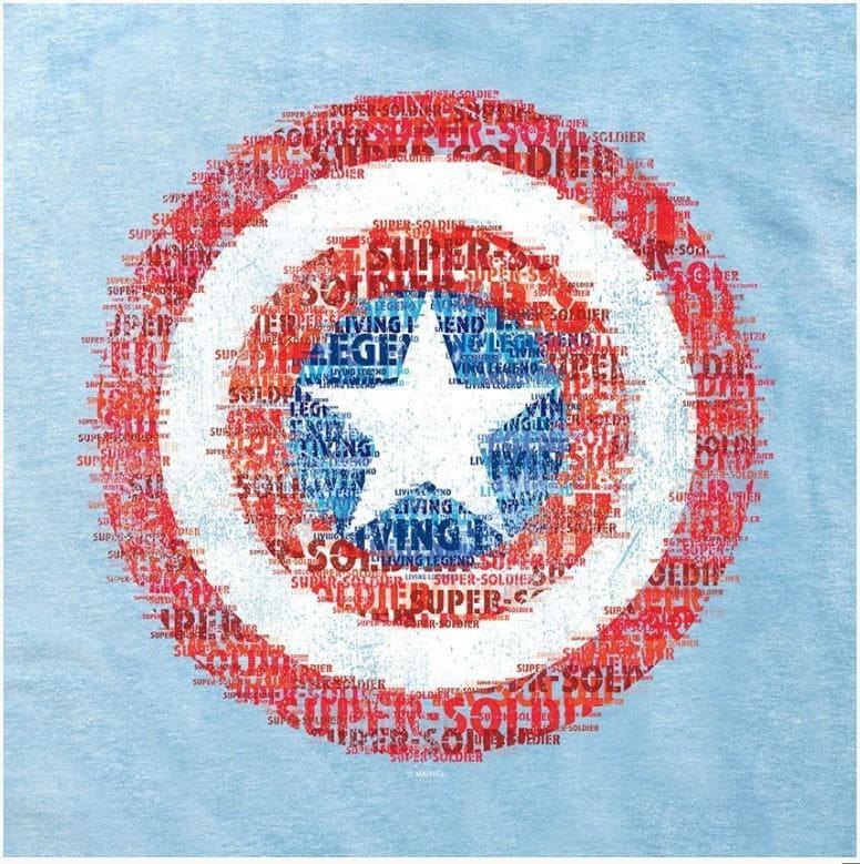 Camiseta Feminina Escudo Capitão América