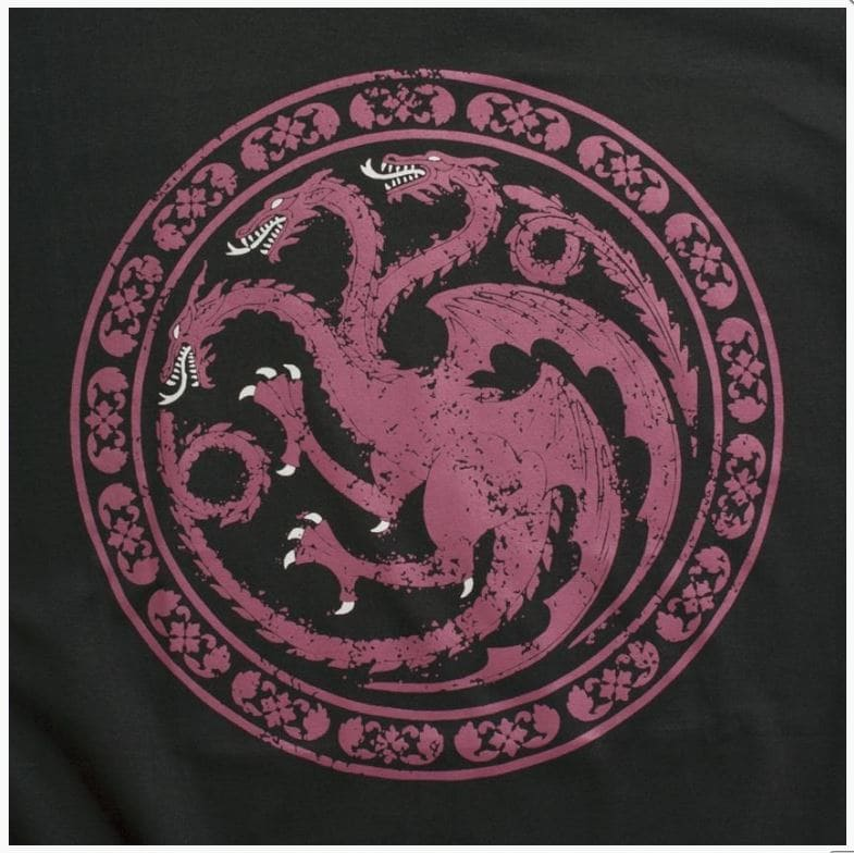Camiseta Feminina Game of Thrones Casa Targaryen