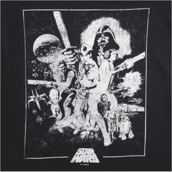 Camiseta Feminina Star Wars 40th Poster Classico