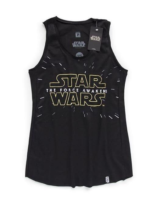 Camiseta Feminina Star Wars Ep,7 Logo