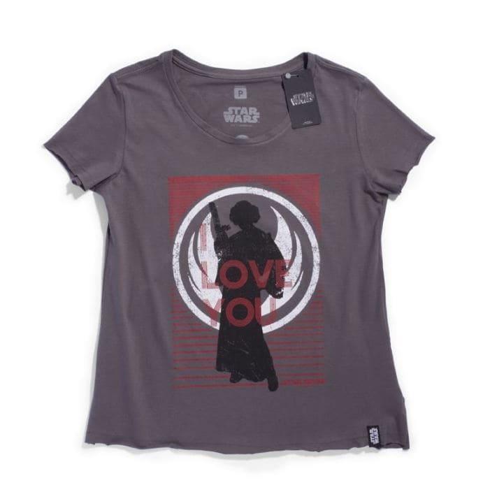 Camiseta Feminina Star Wars Leia
