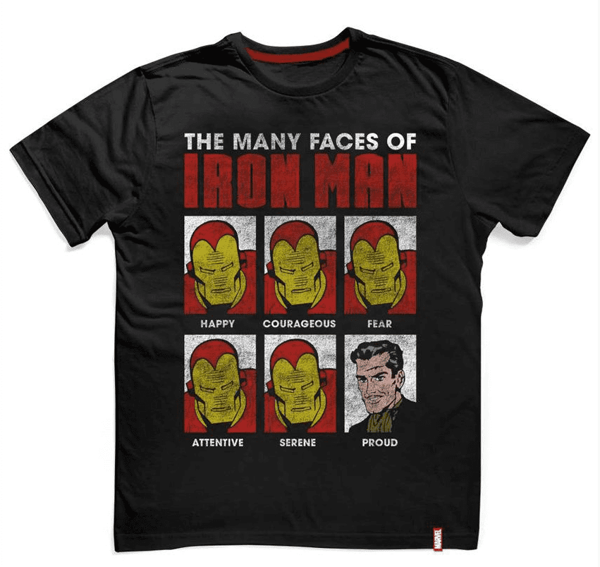 Camiseta Iron Man Faces