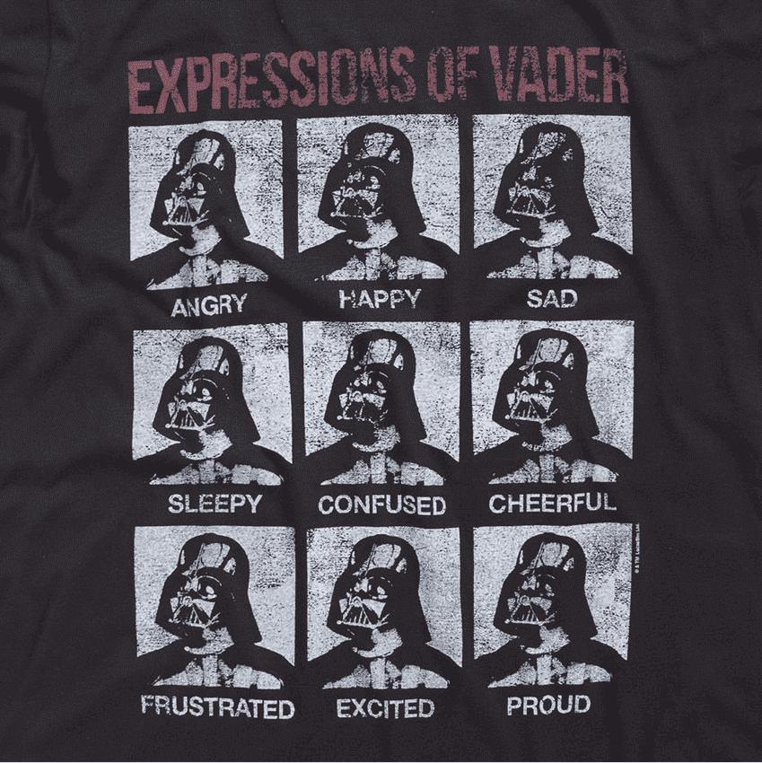 Camiseta Star Wars Darth Vader Expressions