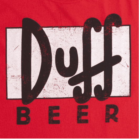 Camiseta The Simpsons Duff Beer