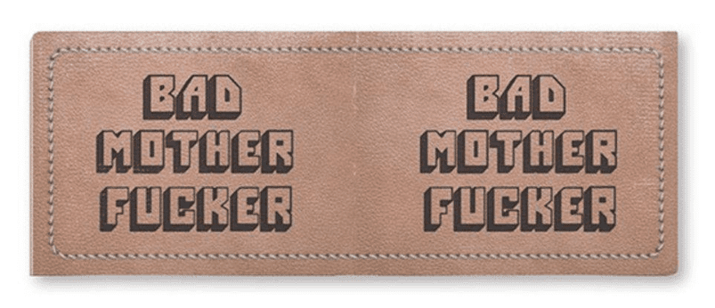 Carteira Pulp Fiction - Bad Mother Fucker