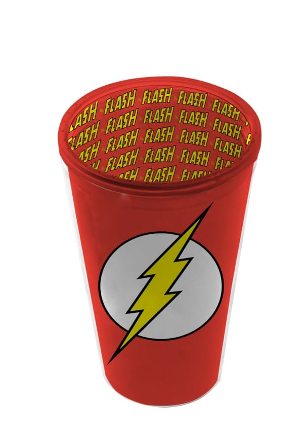 Copo Plastico DC - Flash Logo