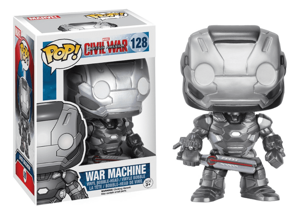 Funko POP! War Machine - Capitão América: Guerra Civil