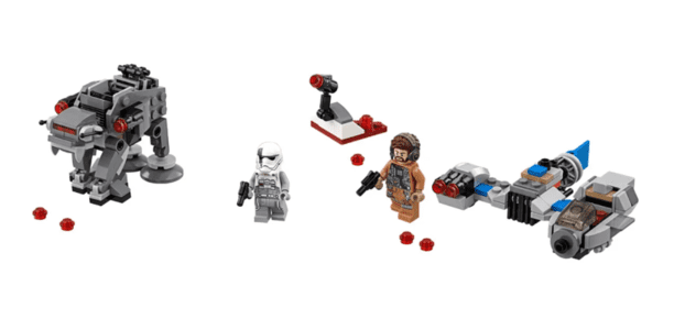Lego Star Wars Ski Speeder vs First Order Walker Microfighters Series 5