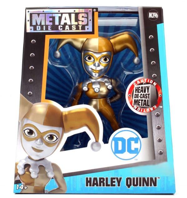Metals Die Cast Harley Quinn Dourada DC