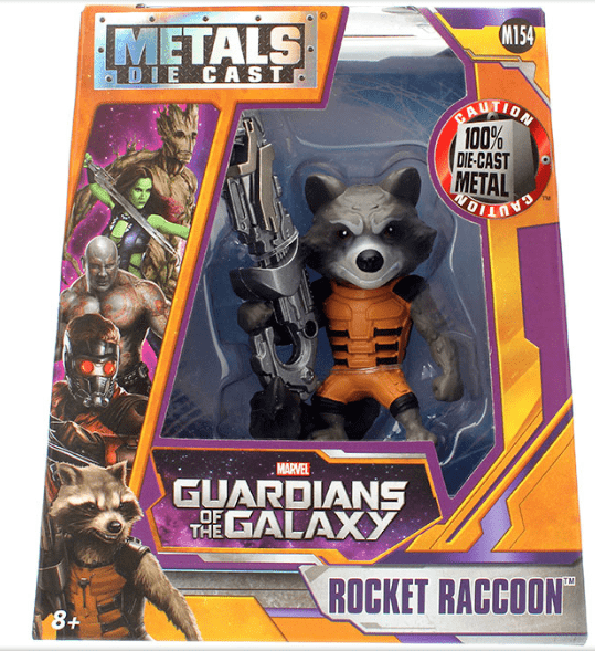 Metals Die Cast Rocket Raccoon - Guardiões da Galáxia