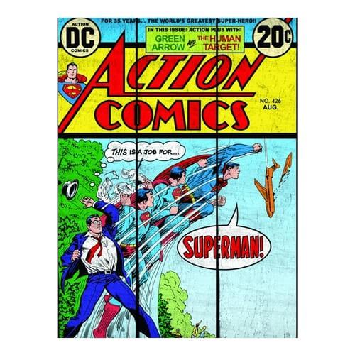 Placa de Madeira DC - Superman Transformação