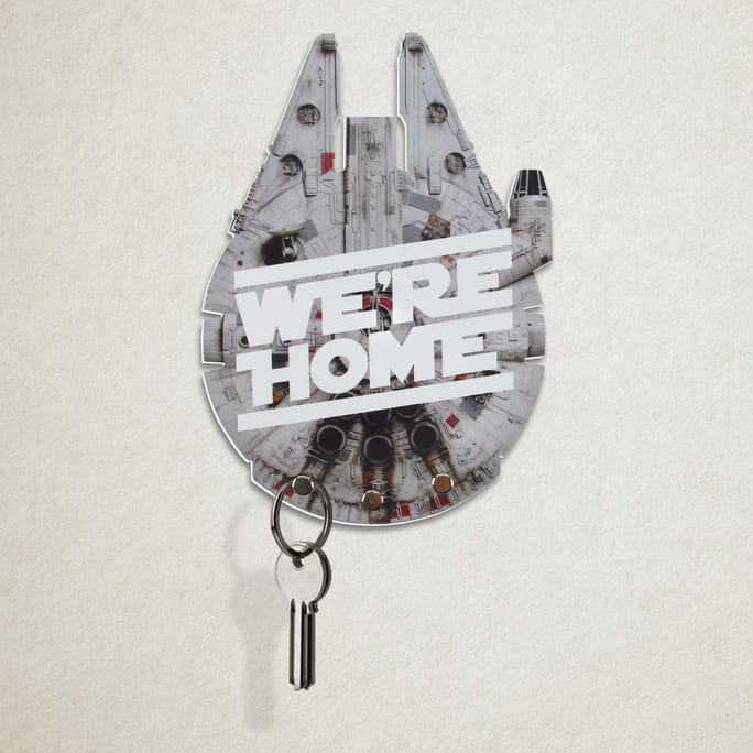 Porta Chaves Star Wars - Millenniun Falcon We're Home