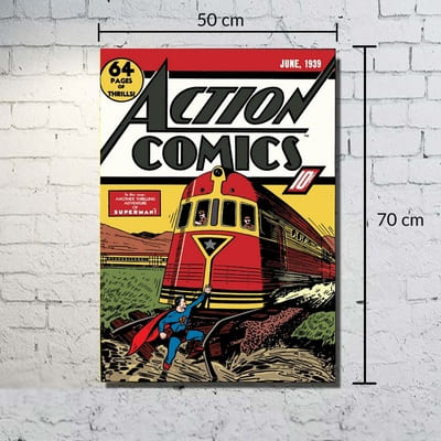Quadro Tela DC - Superman Action Comics