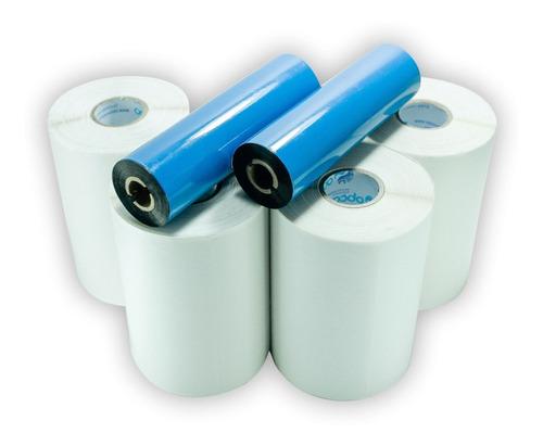 10 Rolos Etiqueta 40x25 2 Colunas + 4 Ribbons Envio Full